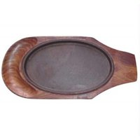 Sizzler Plate with Cavity Wood Base