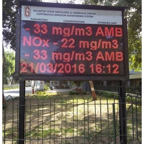 LED Pollution Environment Display Board