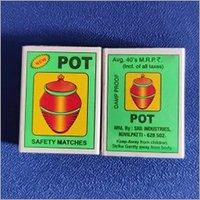 POT Safety Matches Box