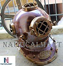 NauticalMart Antique Diving Divers Helmet Copper & Brass U.S Navy Mark V Full Size 18''