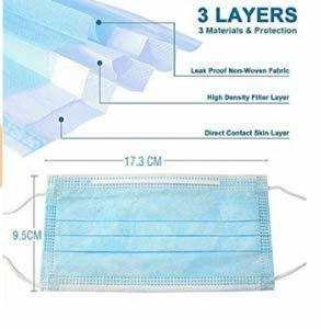 Disposable Medical Sanitary Surgical Face Masks/Hypoallergenic Thick 3-Ply Cotton Filter Mask