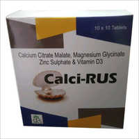 Calcium Citrate Malate, Magnesium Glycinate, Zinc Sulphate and Vitamin D3 Tablet
