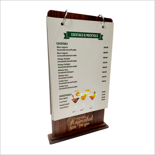 Wooden Tent Card