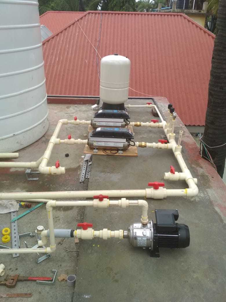 Inline Pressure Booster System With Vfd  Franklin Electric