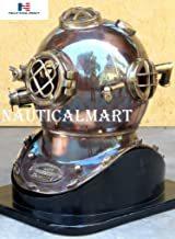 NauticalMart Solid Copper and Brass Antique Finish U.S. Navy MK V Diver's Helmet Replica