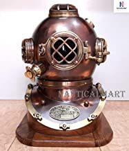 Solid Steel & Brass Diving Divers, Helmet U.S Navy Vintage