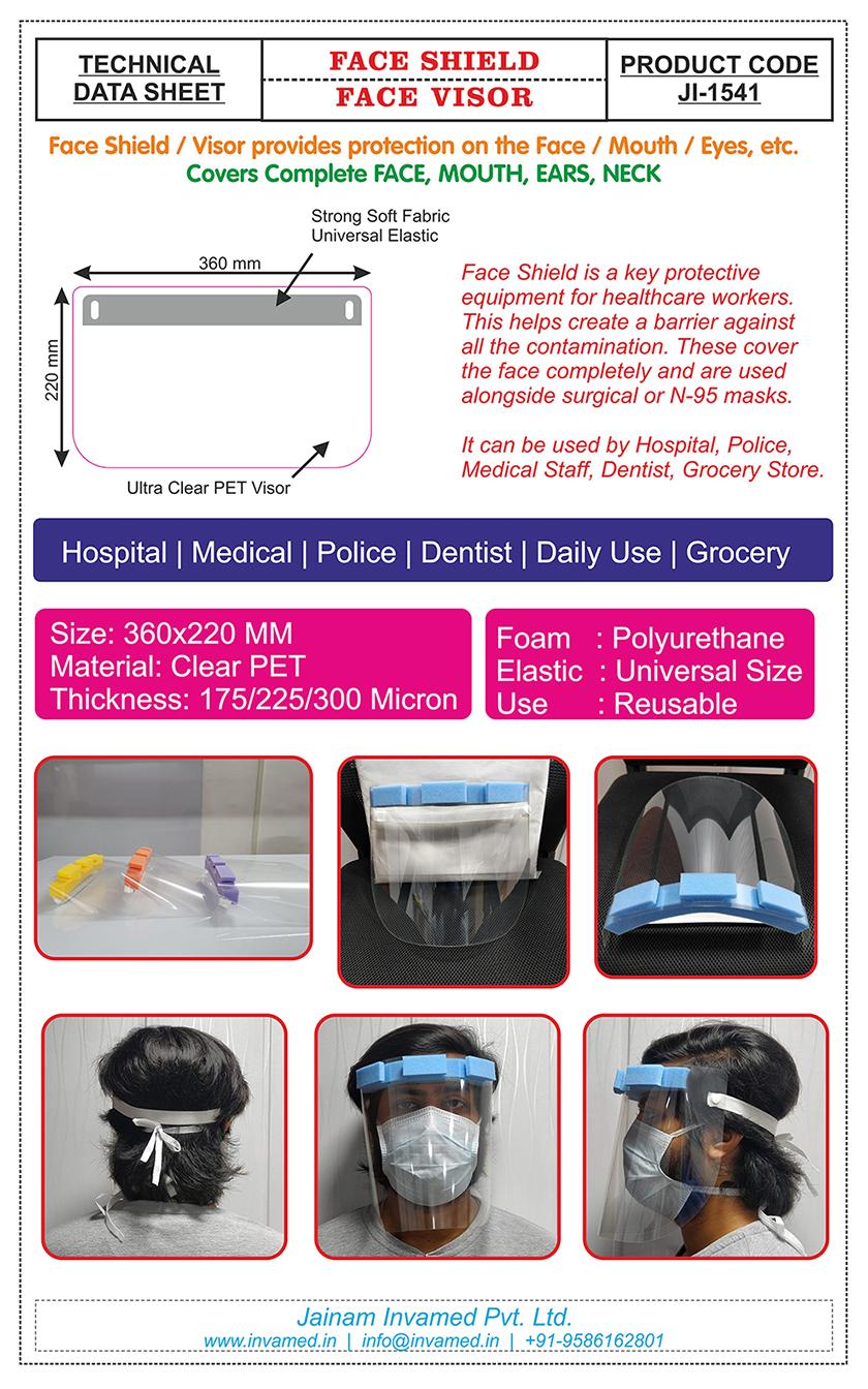 Face Shield - Technical Data Sheet