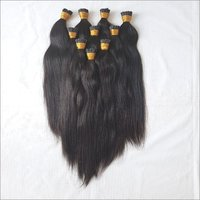 Black Kinky Curly I Tip Human Hair