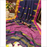 Khadi Cotton Printed Saree