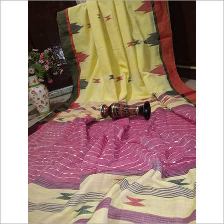 Ladies Khadi Pure Cotton Saree