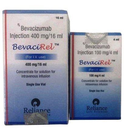 Bevacirel 400mg Injection (Bevacizumab (400mg) - Reliance Life Sciences)