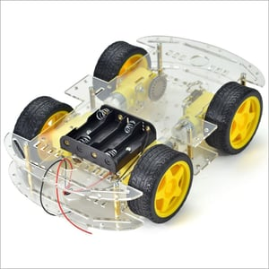 Robot Chassis 4 Wheel Drive Frame With Motors DIY Car Kit 4WD