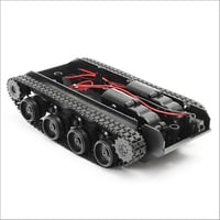 Tank Robot Chassis Kit With Motors And Battery Holder Shock Absorb