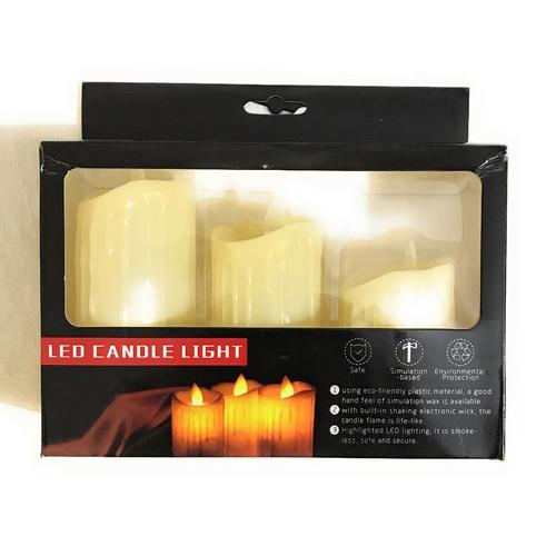 Led Candles Pack Of 3 Pcs