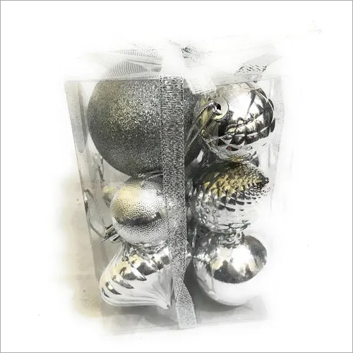 Christmas Tree Hanging Silver Color Combo Pack