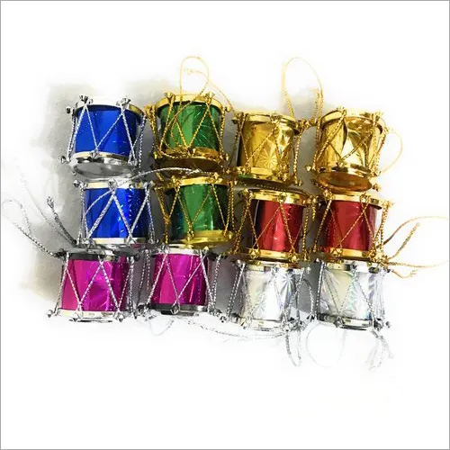 Christmas Decoration Drums 12 Pcs Set Small Size