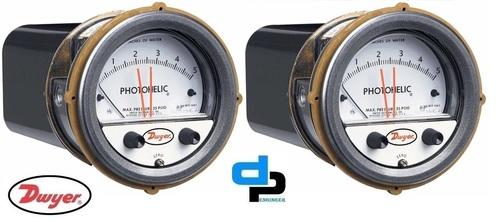 Dwyer A3000-100MM Photohelic Pressure Switch Gauge