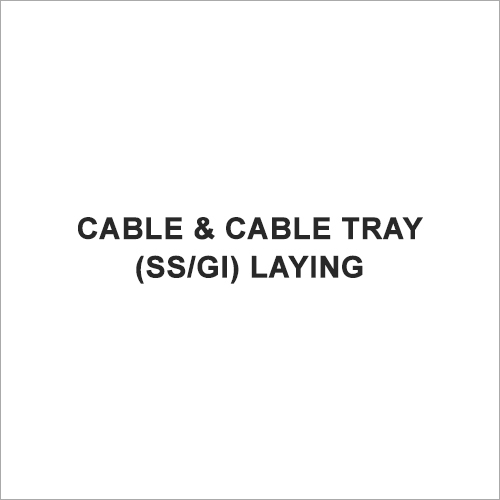 Cable & Cable Tray(SS-GI) Laying
