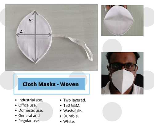 C Type Cotton Cloth Masks