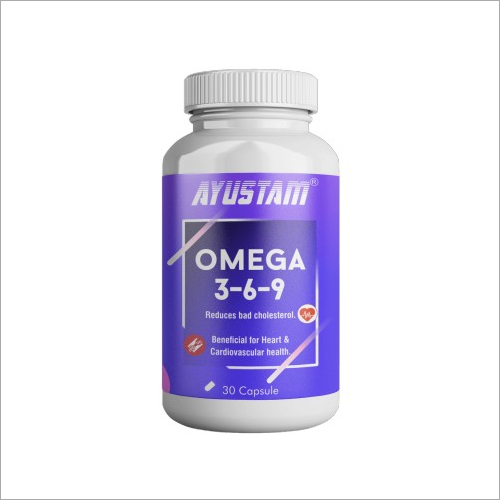 1000mg Omega 3,6,9 Reduces Bad Cholesterol Capsules