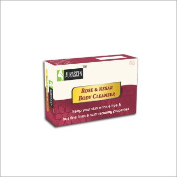 Rose and Kesar Body Cleanser Soap