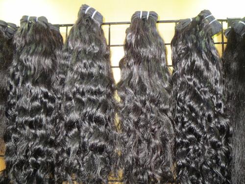 RAW INDIAN HUMAN NATURAL BLACK HAIR