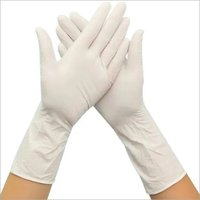 White Disposable Vinyl Gloves
