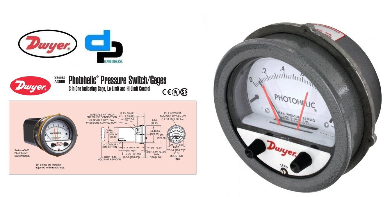 Series A3000 Photohelic Pressure Switch