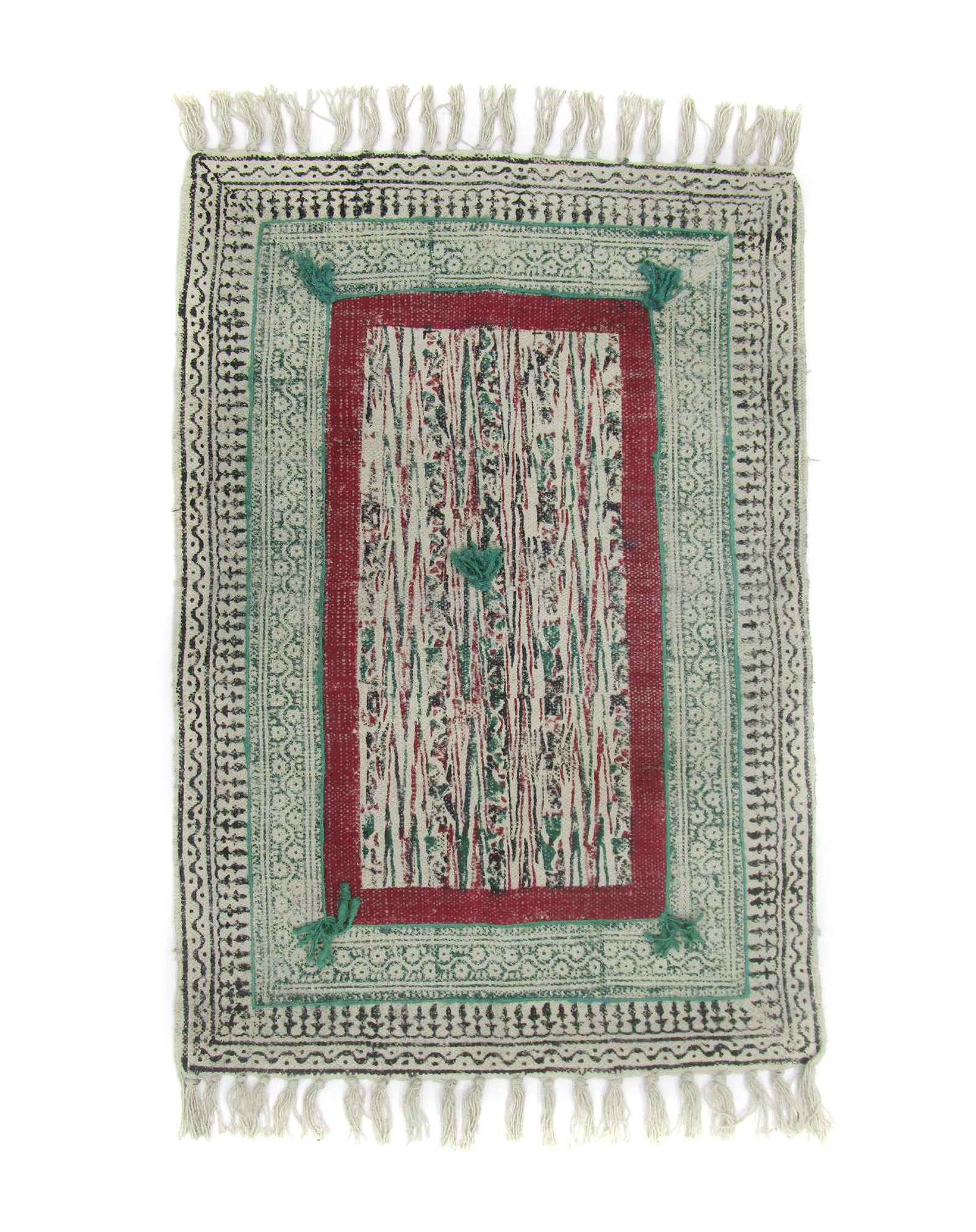 Cotton Embroidery Cotton Rug