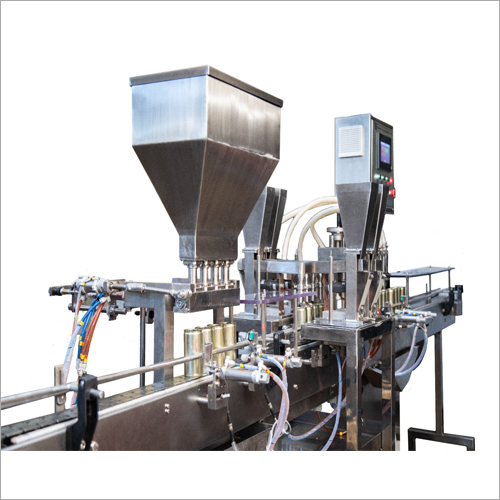 Four Head Flavour Milk Filling And Garnishing Machine