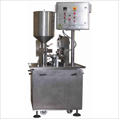 Single Head Semi Automatic Cup Filling And Cup Sealing Machine