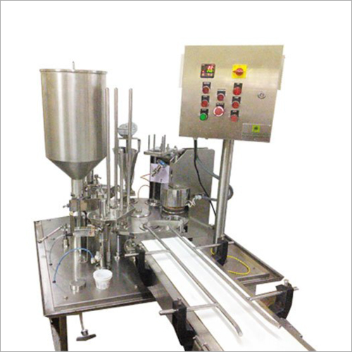 Single Head Cup Filling And Sealing Machine
