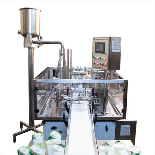 Double Head Cup Filling And Cup Sealing Machine
