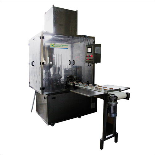 Automatic Rotary Type Double Head Cup Filling And Sealing Machine (Model 2-8-R)