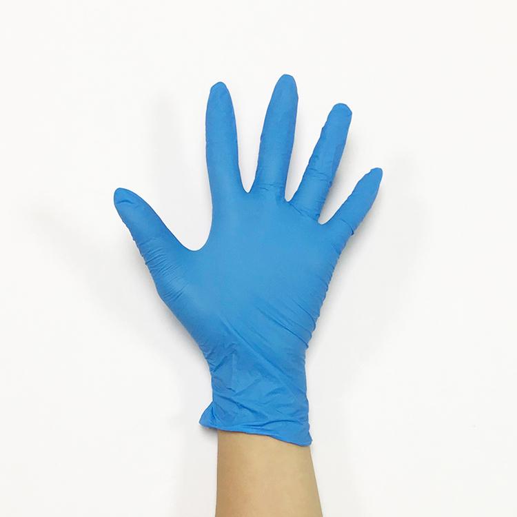 Dark Blue Disposable Nitrile Powder Free Medical Examination Gloves