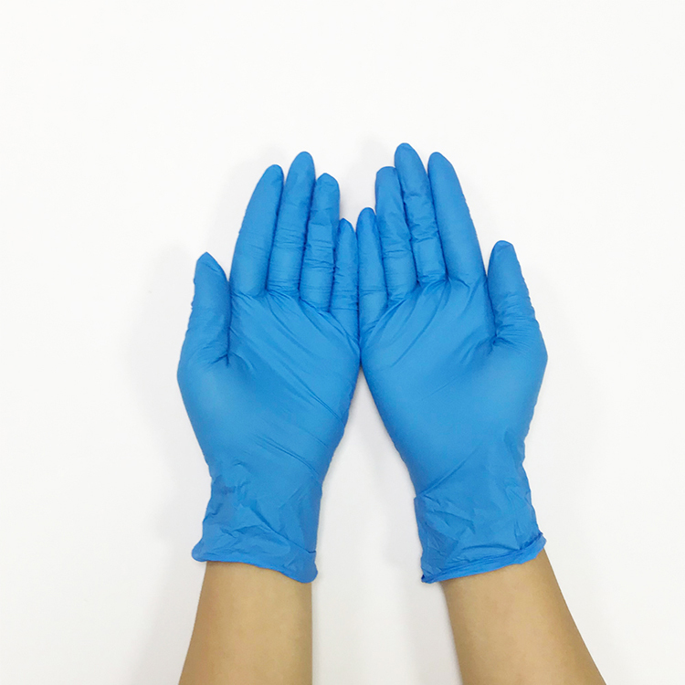 Dark Blue Disposable Nitrile Powder Free Medical Examination Gloves