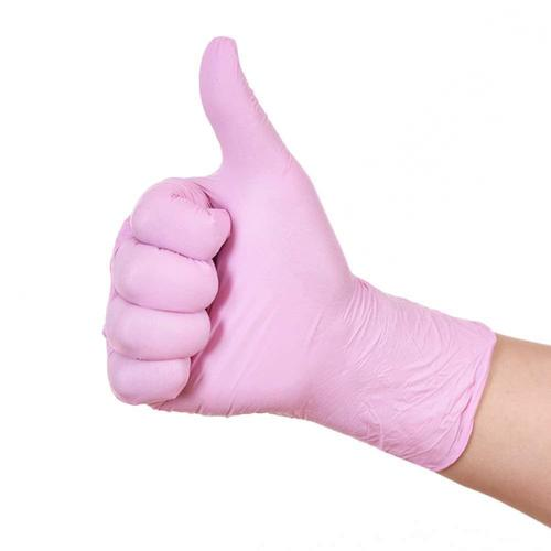 Disposable Food Grade Pink Nitrile Gloves
