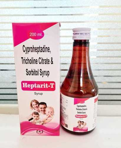 200 Ml Cyproheptadine Tricholine Citrate And Sorbitol Syrup