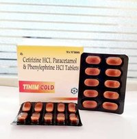 Cetirizine HCl, Paracetamol And Phenylephrine HCl Tablets