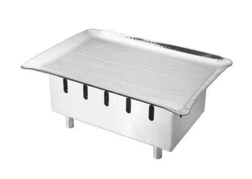 Snack Warmer SS with Hammered Platter 10 x 7