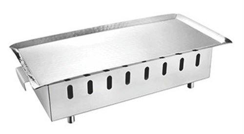 Snack Warmer SS with Hammered Platter 14 x 7