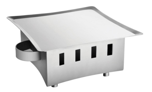 Snack Warmer SS with Square Platter 8 x 8
