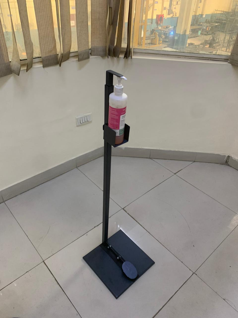 MS Powder Coated Foot Sanitizer Dispense