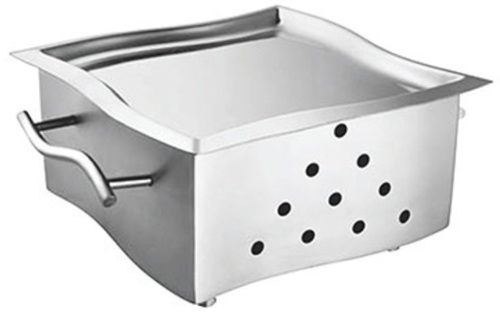 Snack Warmer SS Curved SS Platter 8 x 8