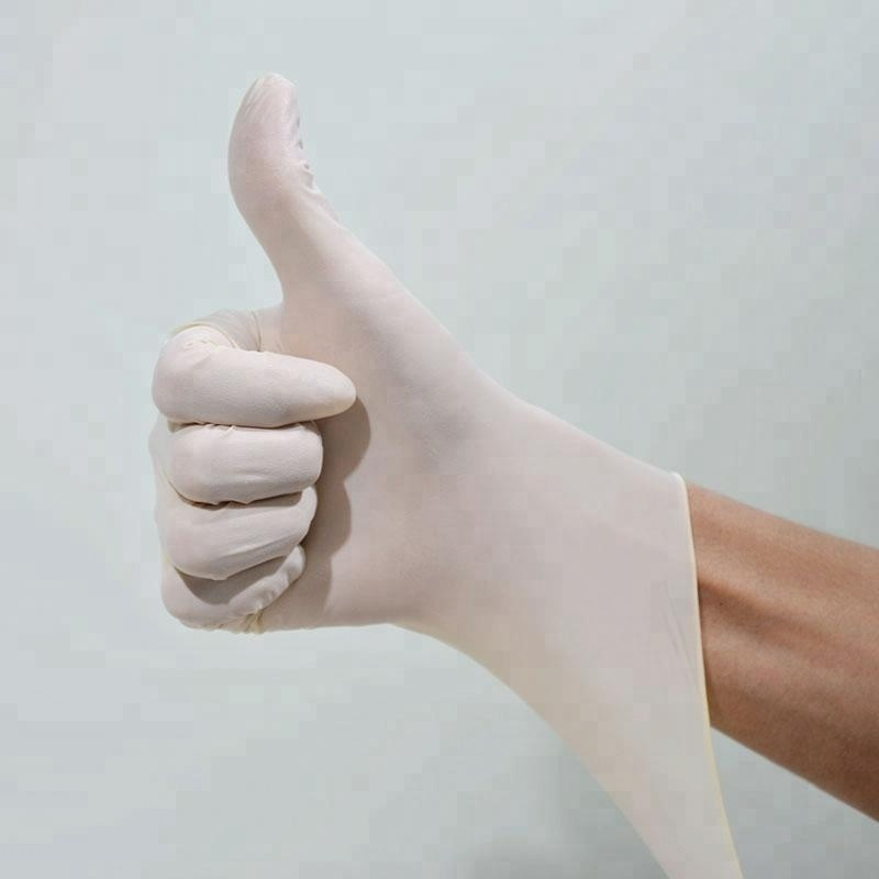 Disposable milk White Hand protective good tensile Latex gloves
