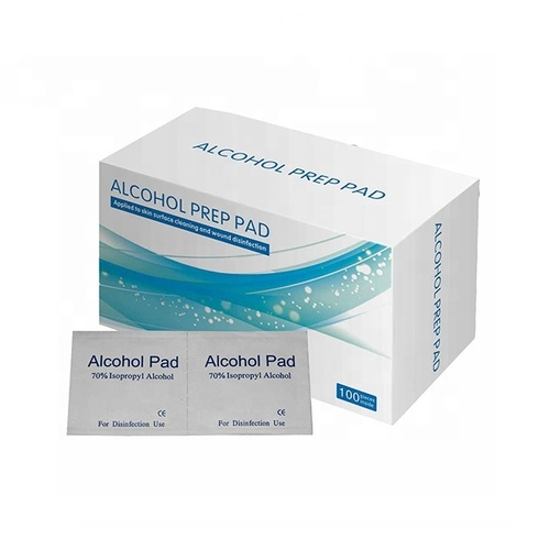 medical nonwoven alcohol swabs/pads/prep pad, Suitable for small wound