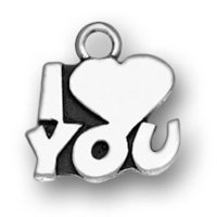 sterling silver Heart shape charms
