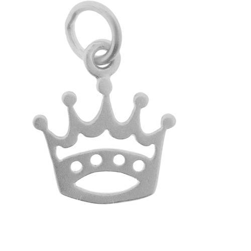 Sterling silver crown & star shape charms