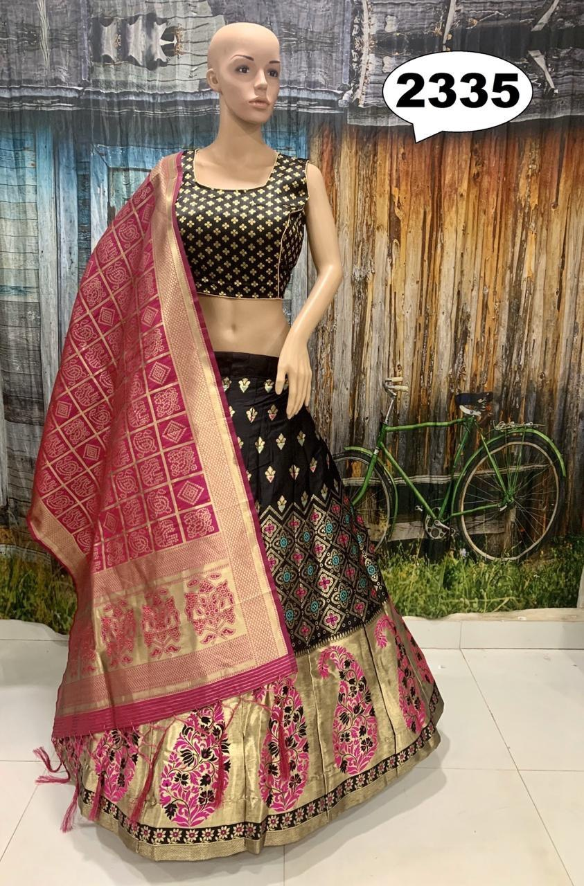 Silk lahenga choli