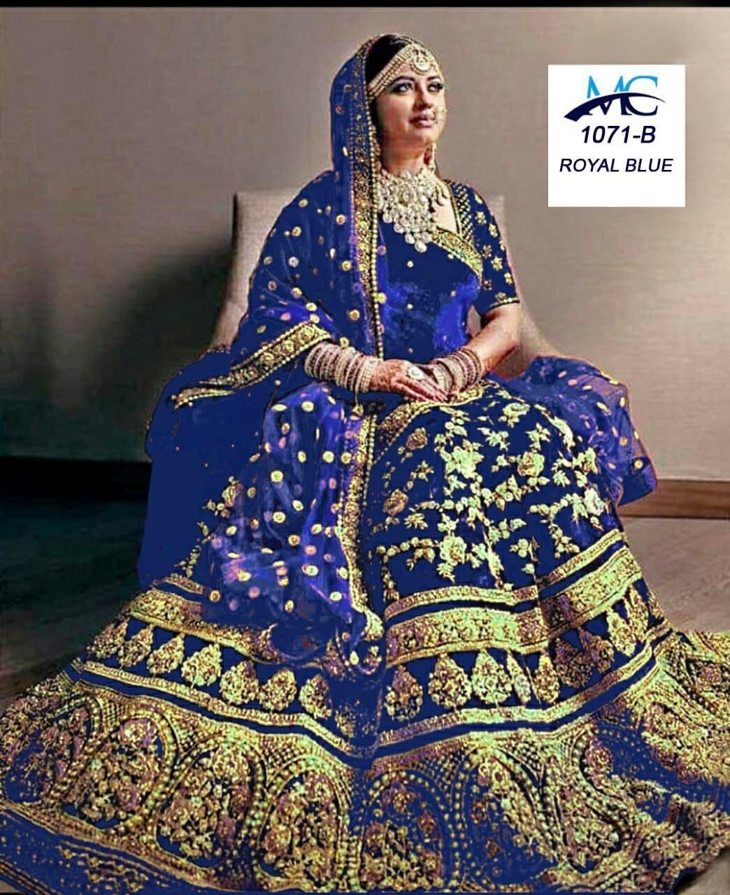 Heavy designer bridal lahenga choli